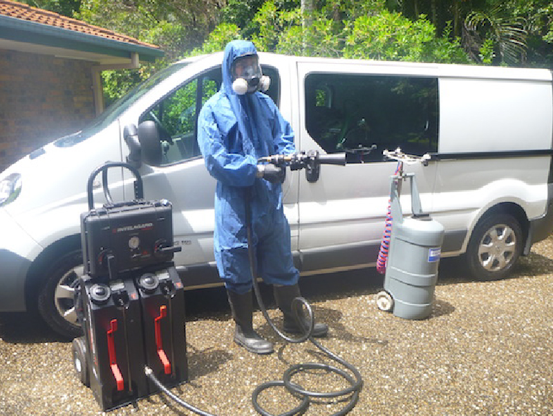 Forensic Cleaner and Biohazard Remediation Technician on the Job